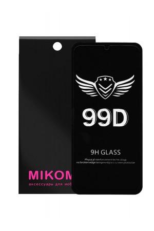 Защитное стекло 99D Mikomo для Samsung Galaxy A01, черная рамка, полный клей