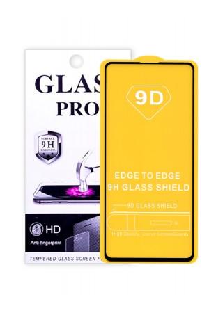 Защитное стекло 9D Glass Pro для Samsung Galaxy A71, черная рамка, полный клей