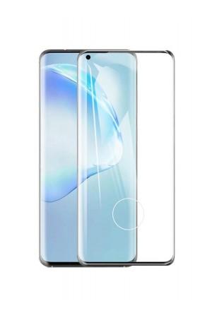 Защитное стекло Ace Shield 3D для Samsung Galaxy S20 Plus, отверстие под палец, черная рамка, полный клей