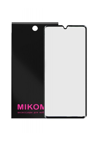 Защитное стекло 3D Mikomo для Xiaomi Mi Note 10, черная рамка, полный клей