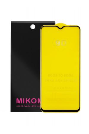 Защитное стекло 9D Mikomo для Xiaomi Redmi Note 8 Pro, черная рамка, полный клей