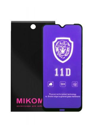 Защитное стекло 11D Mikomo для Xiaomi Redmi Note 8, черная рамка, полный клей