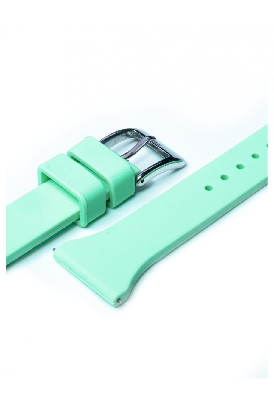 Силиконовый ремешок для Amazfit Pace, 22 мм, застежка пряжка, мятный, mkx053