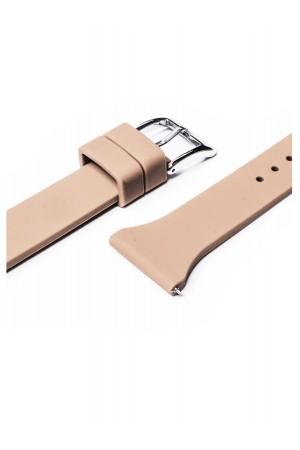 Силиконовый ремешок для Amazfit Stratos, 22 мм, застежка пряжка, бежевый, mkx057