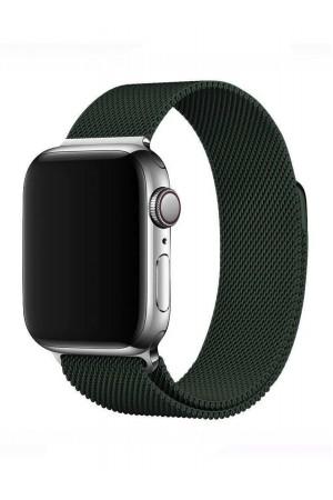 Металлический ремешок для Apple Watch 3 42 мм, темно-зеленый