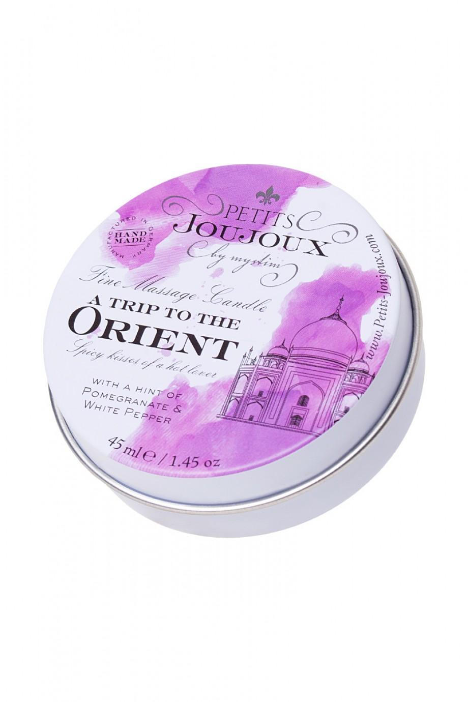Массажная свеча Petits JouJoux Mini Orient с ароматом граната и белого перца, 43 мл