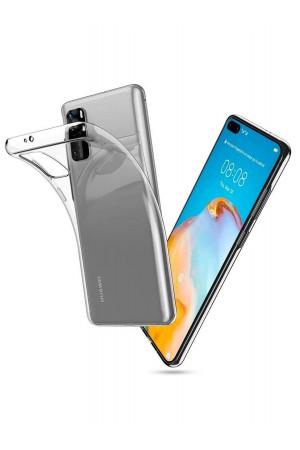 Чехол силиконовый для Huawei P40, прозрачный