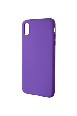 Чехол силиконовый для iPhone XS Max, фиолетовый