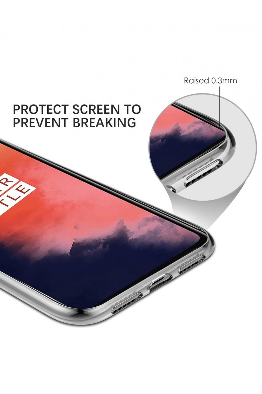 Чехол силиконовый для OnePlus 6T, прозрачный