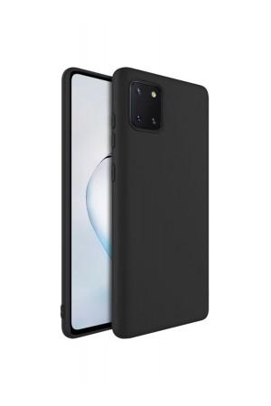 Чехол силиконовый для Samsung Galaxy Note 10 Lite, черный