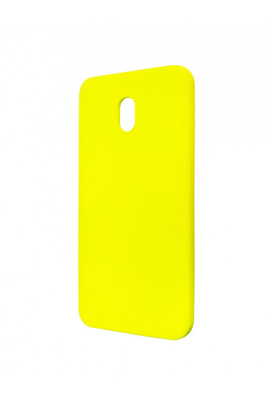 Чехол силиконовый Brauffen для Xiaomi Redmi 8A, мягкая подложка, желтый