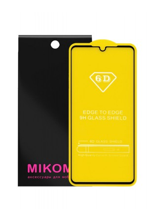 Защитное стекло 6D Mikomo для Huawei P30, черная рамка, полный клей