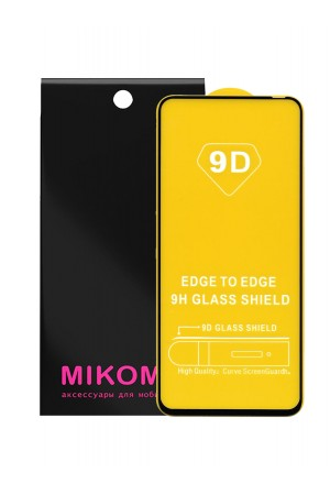 Защитное стекло 9D Mikomo для Honor V30 Pro, черная рамка, полный клей