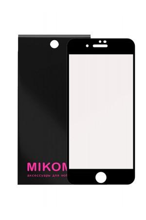 Защитное стекло 5D Mikomo для iPhone SE 2020, черная рамка, полный клей