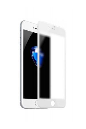 Защитное стекло Ainy для iPhone 8, матовое, белая рамка, полный клей
