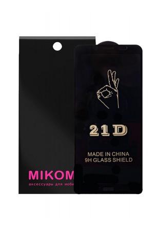 Защитное стекло 21D Mikomo для Xiaomi Redmi 7A, Premium Black, черная рамка, полный клей