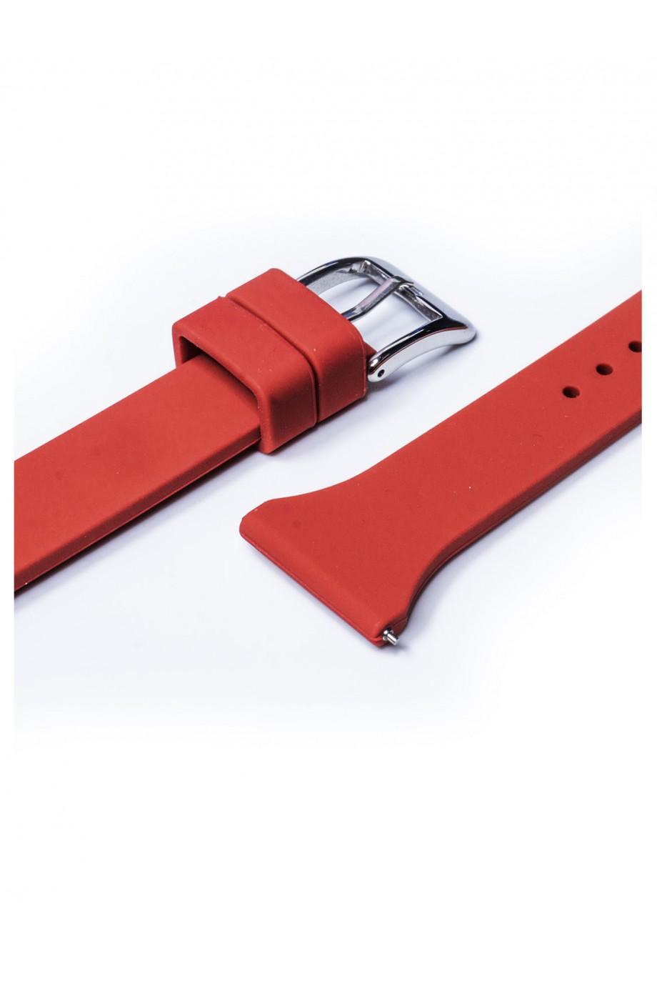 Силиконовый ремешок для Amazfit Pace, 22 мм, застежка пряжка, красный, mkx054