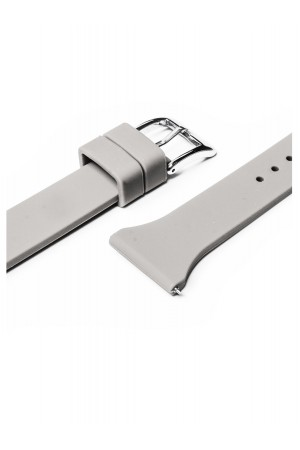 Силиконовый ремешок для Amazfit Stratos, 22 мм, застежка пряжка, серый, mkx058