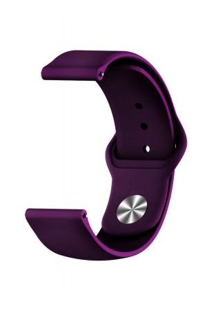 Силиконовый ремешок для Amazfit GTR 42 мм, 20 мм, застежка pin-and-tuck, фиолетовый, ml-012