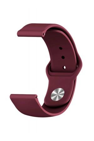 Силиконовый ремешок для Amazfit Stratos 2, 22 мм, застежка pin-and-tuck, вишневый, mz-05