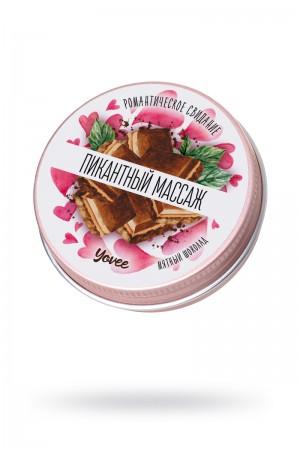 Массажная свеча Yovee by Toyfa Романтическое свидание «Пикантный массаж» с ароматом мятного шоколада, 30 мл