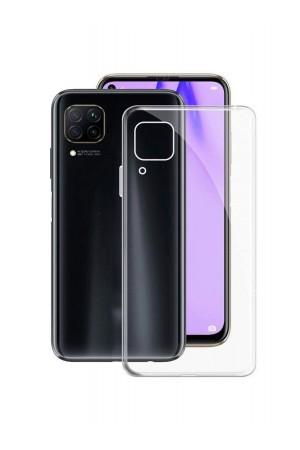 Чехол силиконовый для Huawei P40 Lite, прозрачный