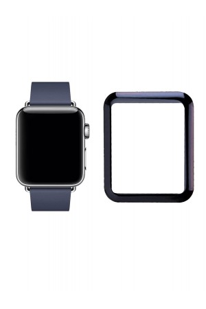 Защитное стекло 3D для Apple Watch 4/5 44 мм, Dark Blue, Full Glue