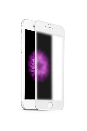 Защитное стекло Ainy для iPhone 8 Plus, матовое, белая рамка, полный клей
