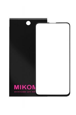 Защитное стекло 3D Mikomo для Samsung Galaxy S10, черная рамка, полный клей