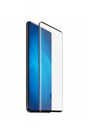 Защитное стекло 3D Mikomo для Samsung Galaxy S20, отверстие под палец, черная рамка, полный клей