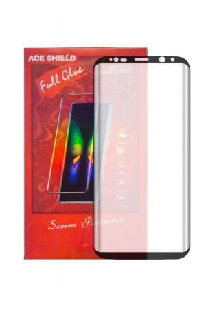 Защитное стекло Ace Shield 3D для Samsung Galaxy S8, черная рамка, полный клей, mk047