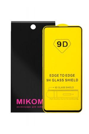Защитное стекло 9D Mikomo для Xiaomi Redmi K30, черная рамка, полный клей