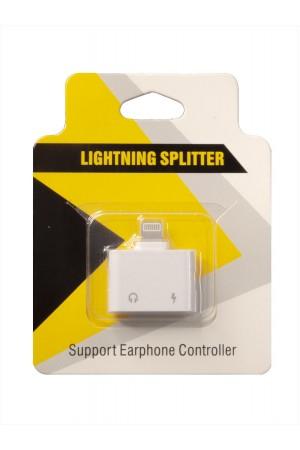 Адаптер Lightning 8 pin – 2 x Lightning 8 pin, белый
