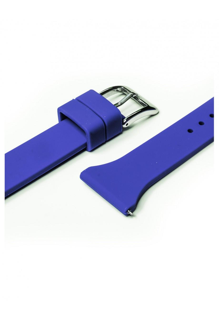 Силиконовый ремешок для Amazfit Pace, 22 мм, застежка пряжка, синий, mkx055