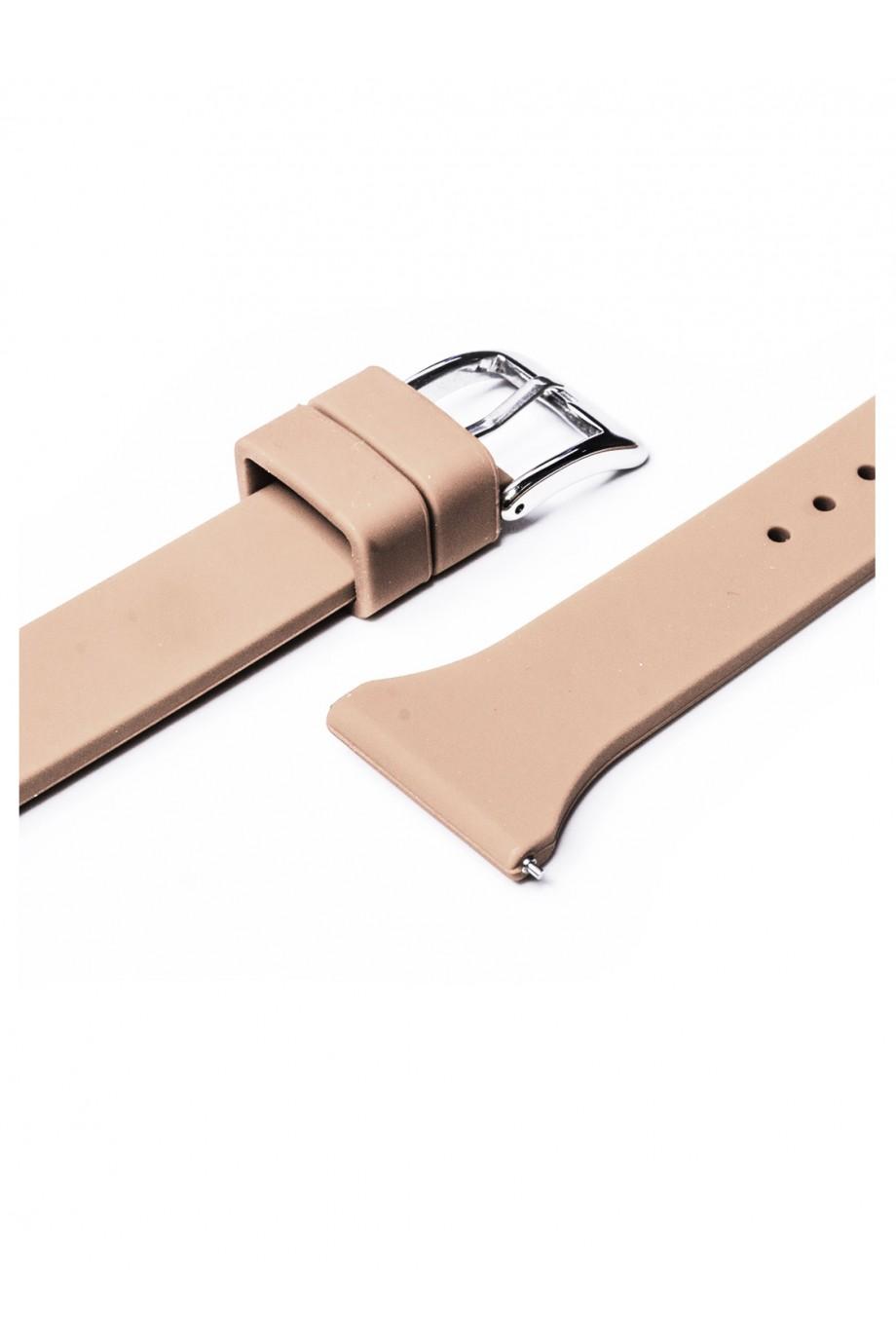 Силиконовый ремешок для Amazfit Stratos 2S, 22 мм, застежка пряжка, бежевый, mkx057