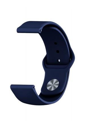 Силиконовый ремешок для Amazfit Stratos, 22 мм, застежка pin-and-tuck, темно-синий, mz-08