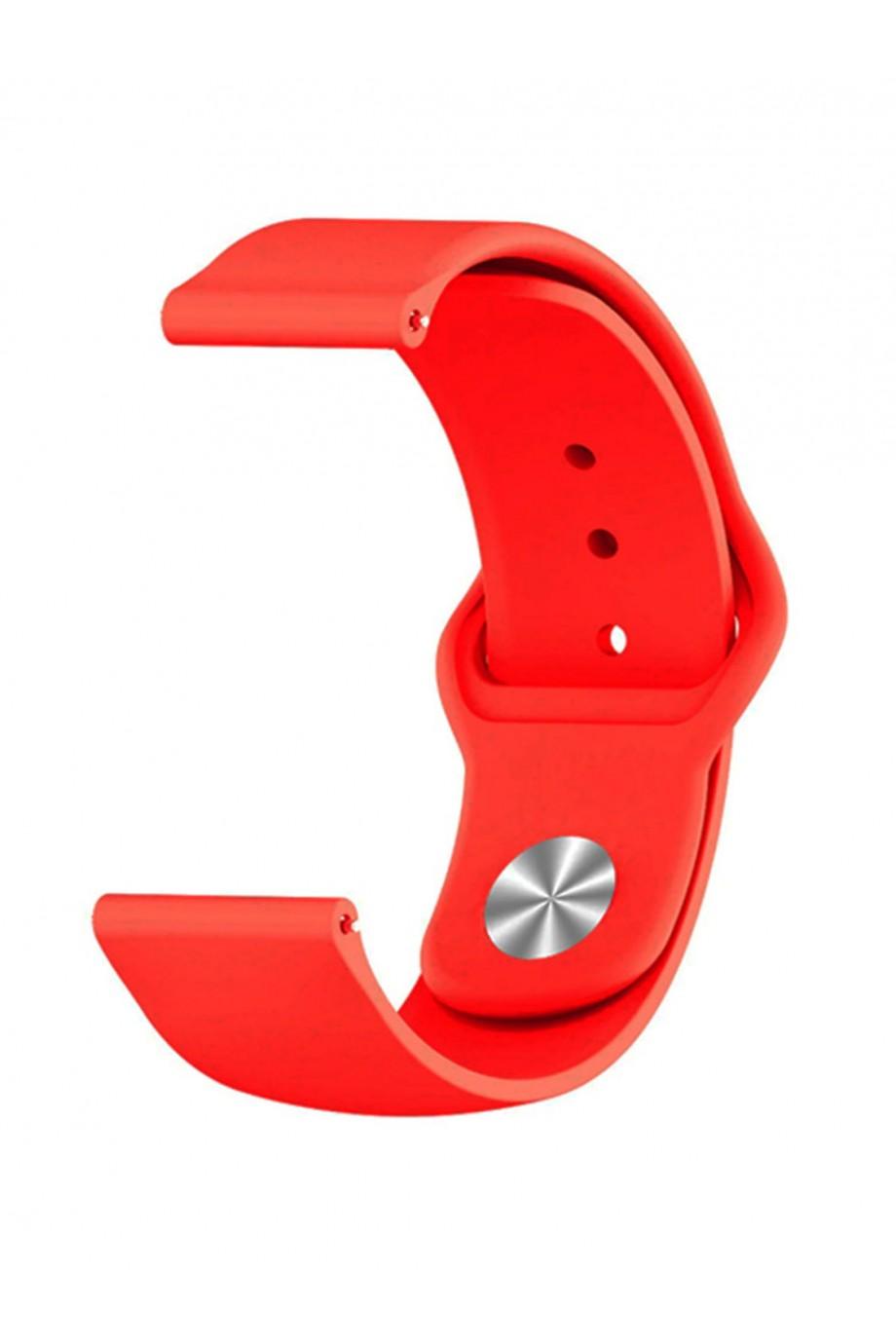 Силиконовый ремешок для Amazfit Stratos 2s, 22 мм, застежка pin-and-tuck, красный, mz-04