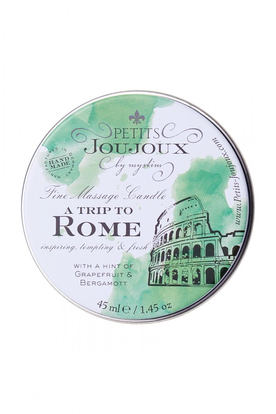 Массажная свеча Petits JouJoux Mini Rome с ароматом грейпфрута и бергамота, 43 мл