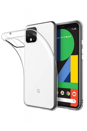 Чехол силиконовый для Google Pixel 4, прозрачный