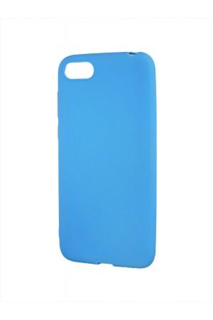 Чехол силиконовый для Huawei Y5 Prime 2018, голубой