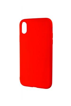 Чехол силиконовый для iPhone XR, красный