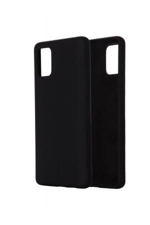 Чехол силиконовый для Samsung Galaxy A51, мягкая подложка, черный