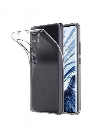 Чехол силиконовый для Xiaomi Mi Note 10, прозрачный