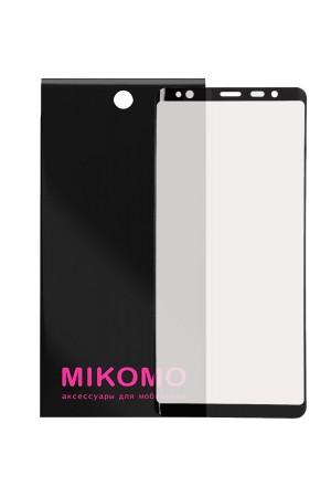 Защитная пленка 3D Mikomo для Samsung Galaxy S8, черная рамка, полный клей