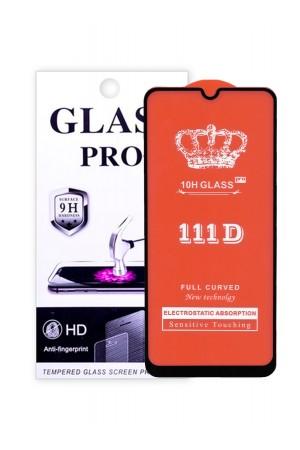 Защитное стекло 111D Glass Pro для Honor 9A, черная рамка, полный клей