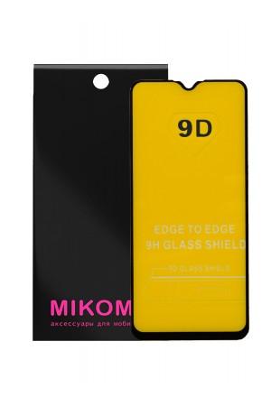 Защитное стекло 9D Mikomo для Samsung Galaxy A01, черная рамка, полный клей
