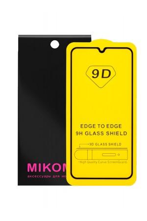 Защитное стекло 9D Mikomo для Samsung Galaxy A10S, черная рамка, полный клей, mk020