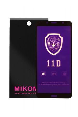 Защитное стекло 11D Mikomo для Xiaomi Redmi 7A, черная рамка, полный клей