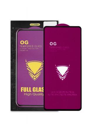 Защитное стекло 5D CCBBK для Xiaomi Redmi Note 9S, OG series, черная рамка, полный клей, mk069