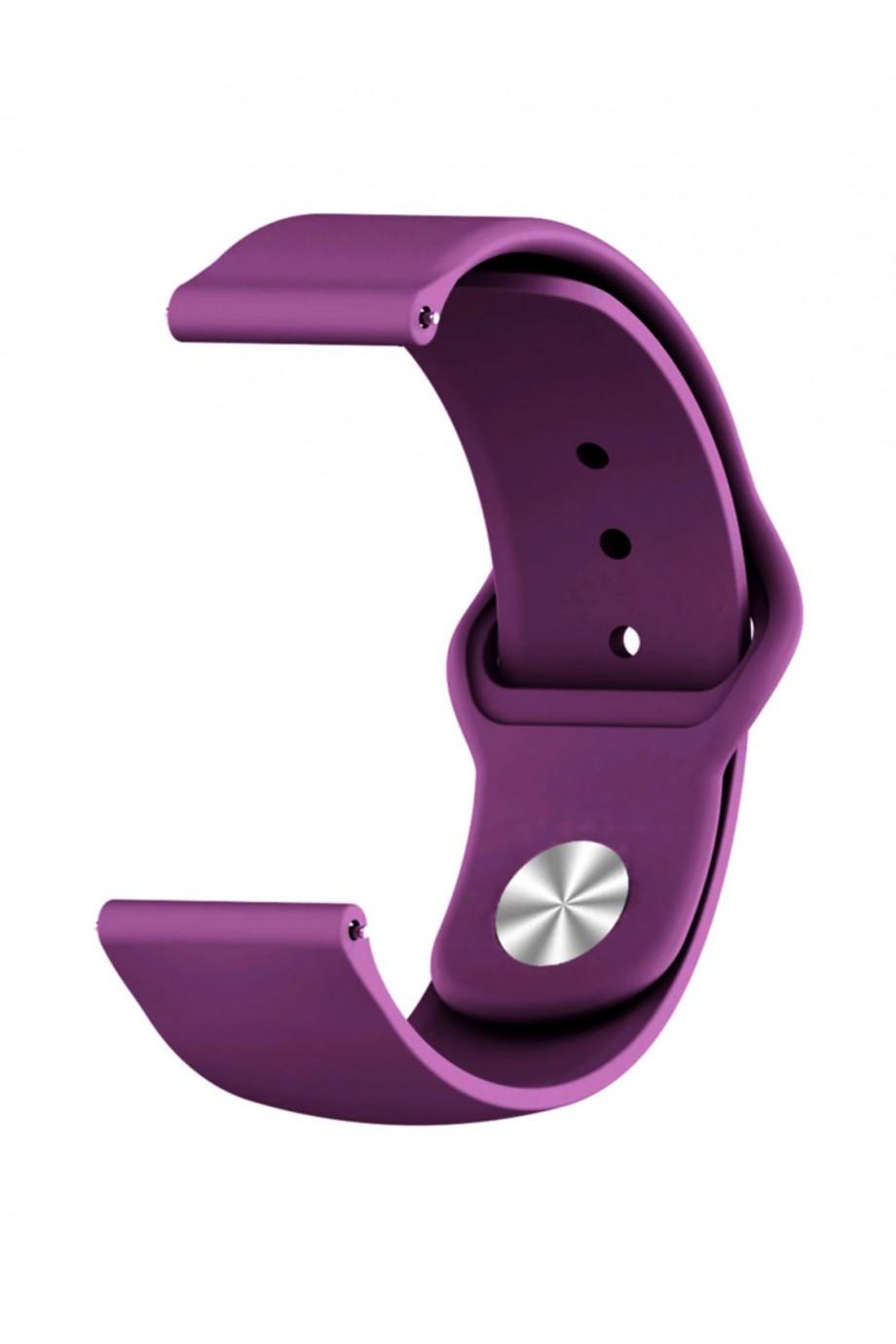 Силиконовый ремешок для Amazfit Stratos, 22 мм, застежка pin-and-tuck, фиолетовый, mz-12